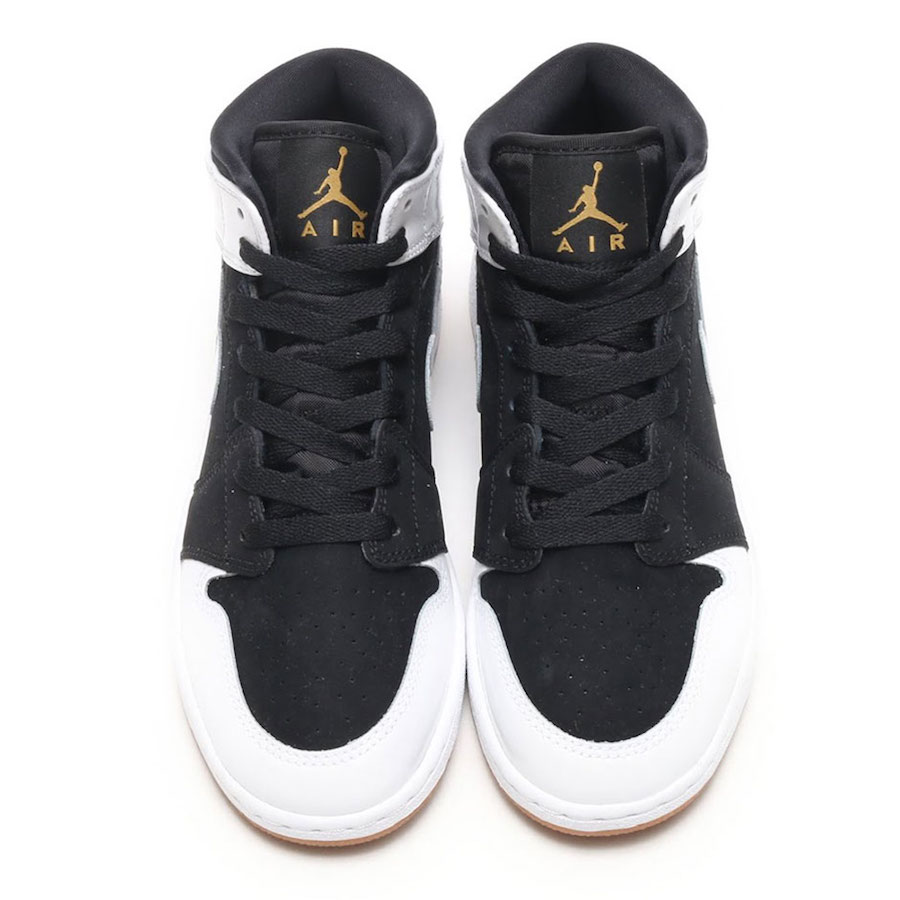 Air Jordan 1 Mid Gold Gum 555112-021