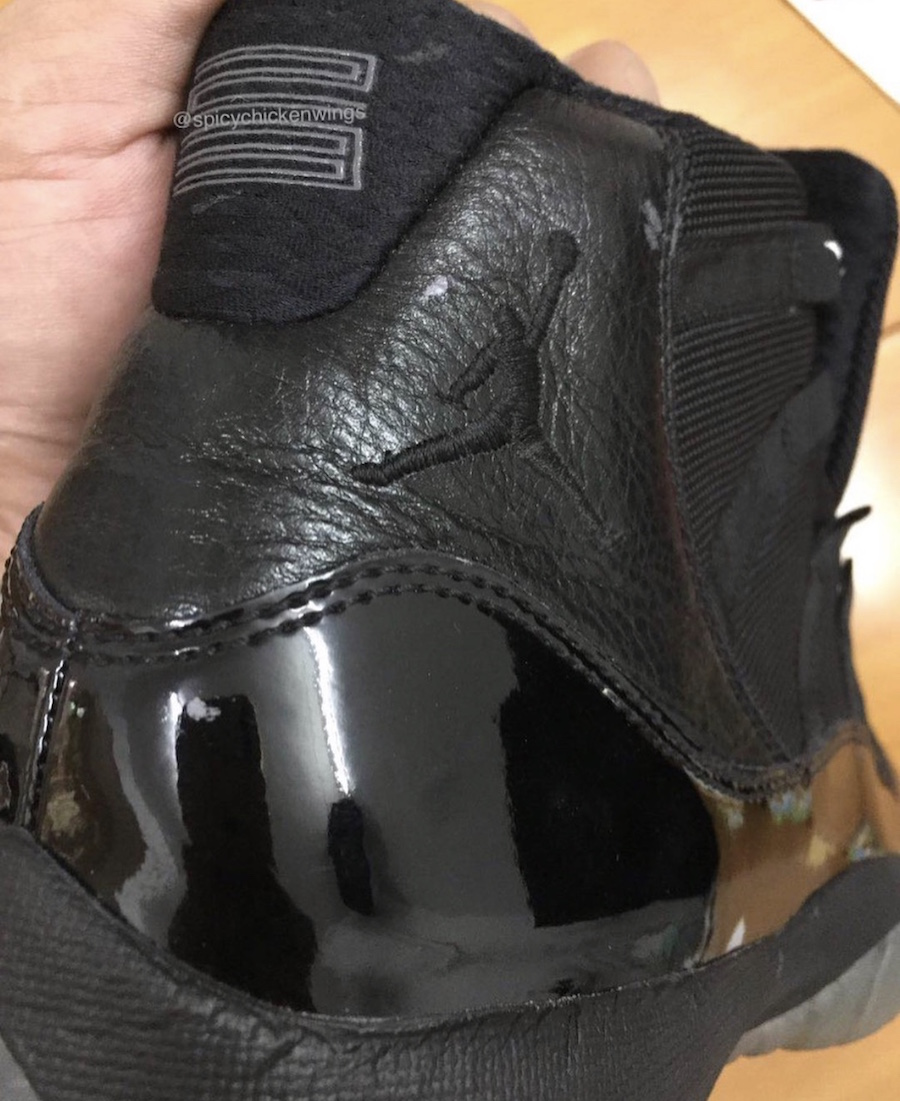 Air Jordan 11 Blackout 378037-005 2018