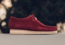 Clarks Wallabee Boot Red Suede