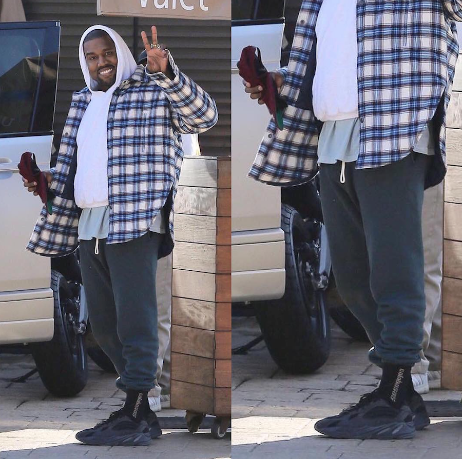 Kanye West Adidas Yeezy Wave Runner 700 Black