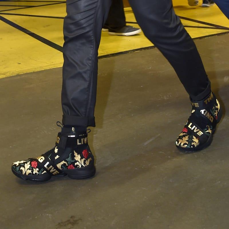 Kith Nike LeBron 15 Strap Floral Black Gold