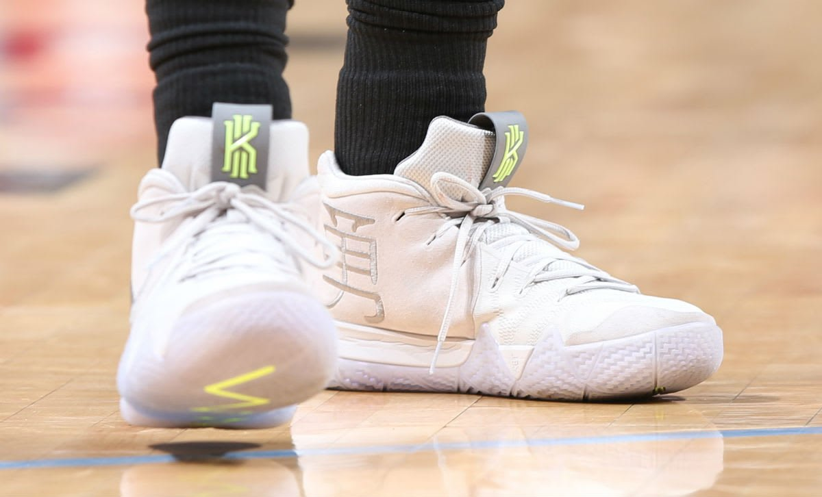 best service 08d68 814eb Kyrie Irving Nike Kyrie 4 White Glow in the Dark | SneakerFiles