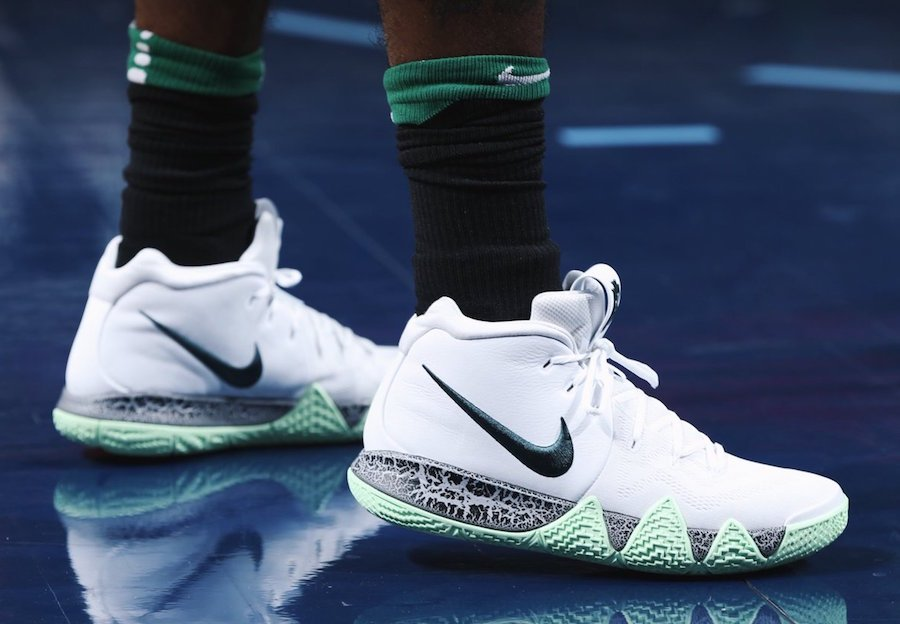 best service acd80 614ff Kyrie Irving Nike Kyrie 4 White Glow in the Dark | SneakerFiles