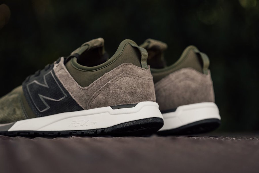 New Balance 247 Luxe Reptile Olive