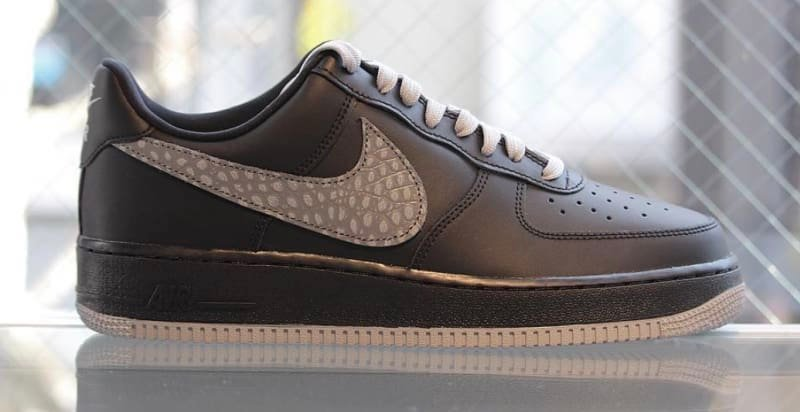 Nike Air Force 1 Croc Swoosh Black Sail 823511-012