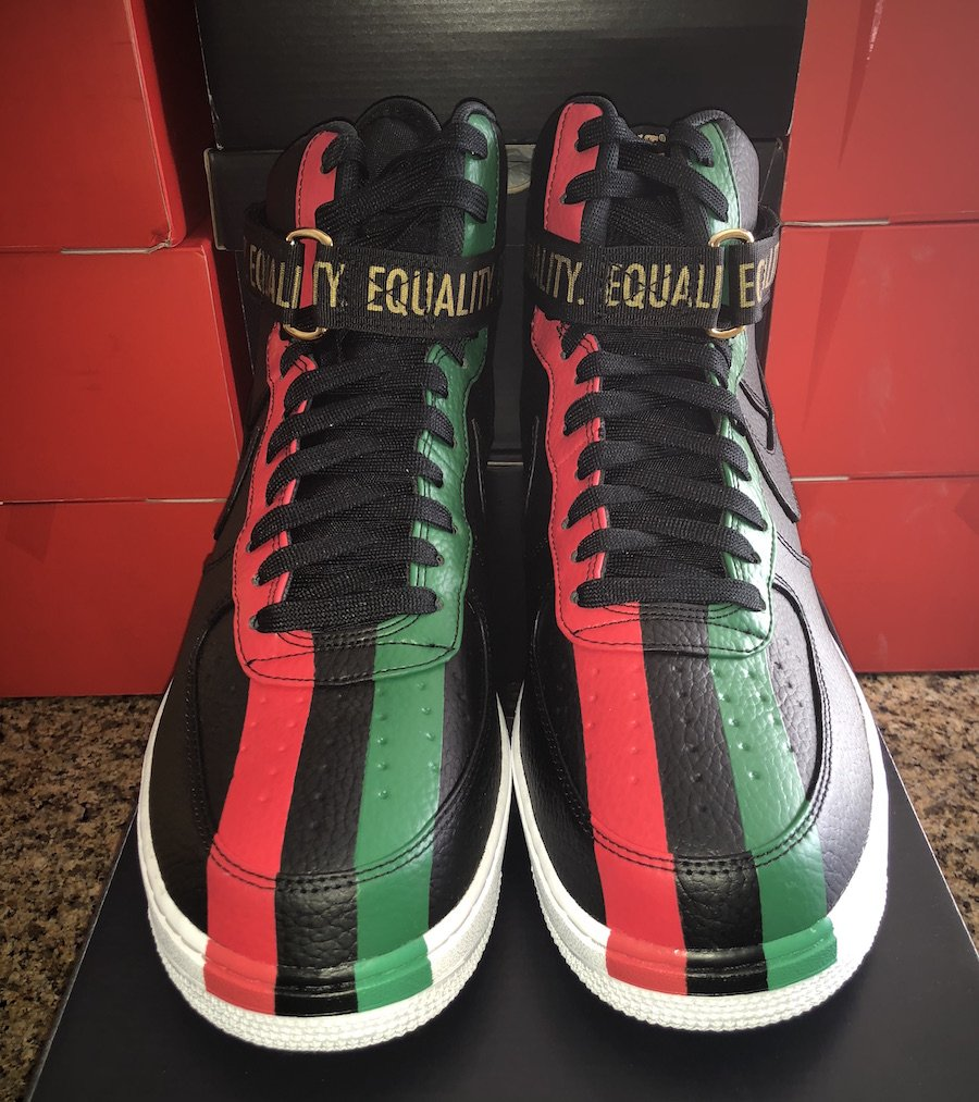 premium selection 4f6fd 6d4ad Nike Air Force 1 High BHM Black History Month 2018 ...