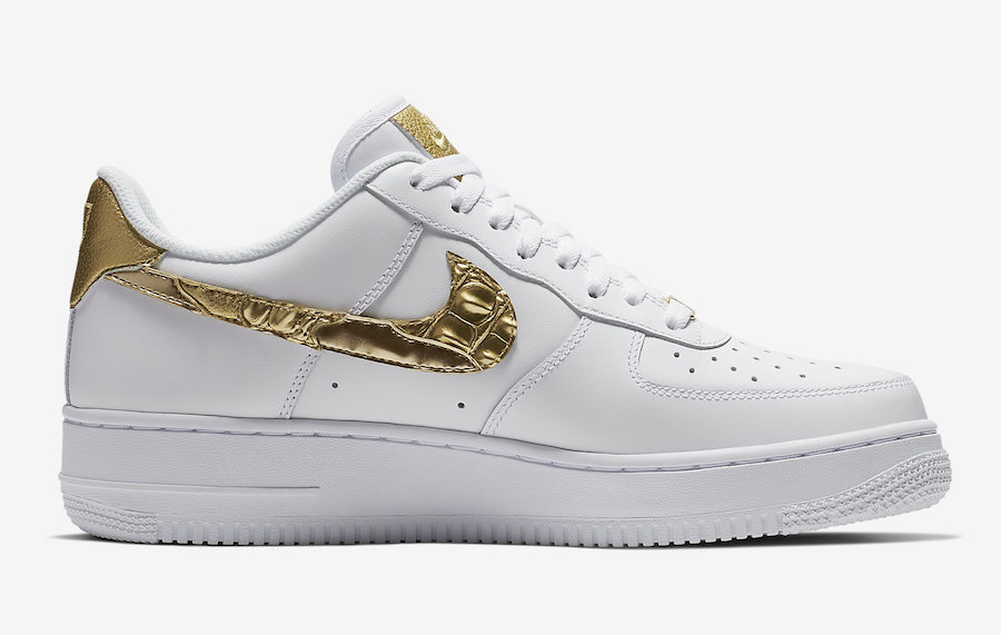 Nike Air Force 1 Low CR7 Cristiano Ronaldo Gold Patchwork AQ0666-100
