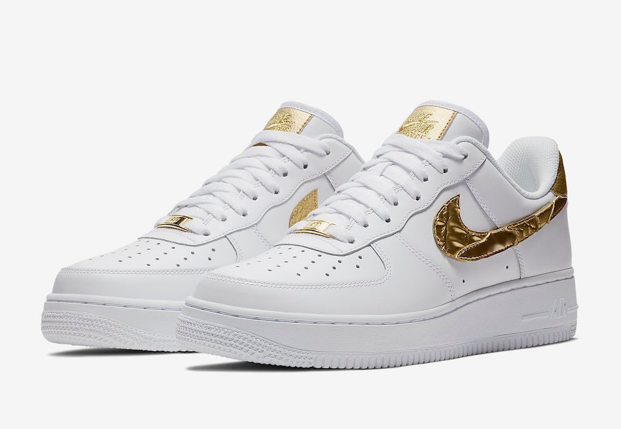 Nike Air Force 1 CR7 Gold Patchwork AQ0666-100   SneakerFiles