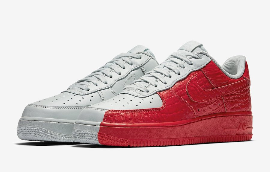 Nike Air Force 1 Low Split White Red 905345-005