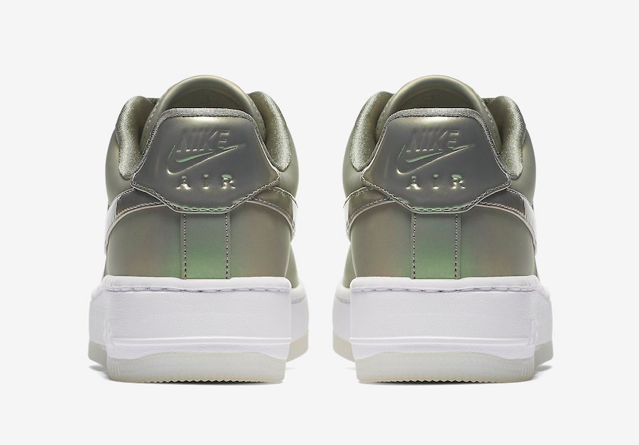 Nike Air Force 1 Upstep Shine Dark Stucco White AA3964-001