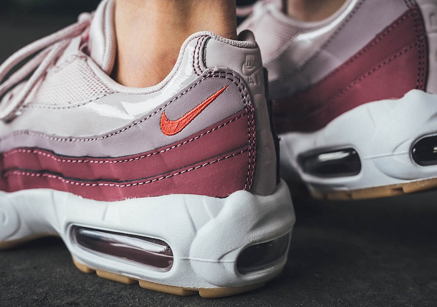 a7fb5b479f09 Nike Air Max 95 Barely Rose Hot Punch 307960-603