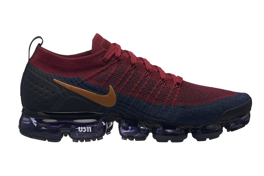 Nike Air VaporMax 2.0 Burgundy Blue Gold