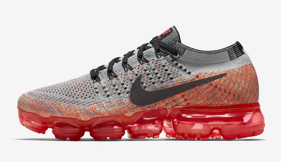 Nike Air VaporMax Wolf Grey Bright Crimson 849557-026