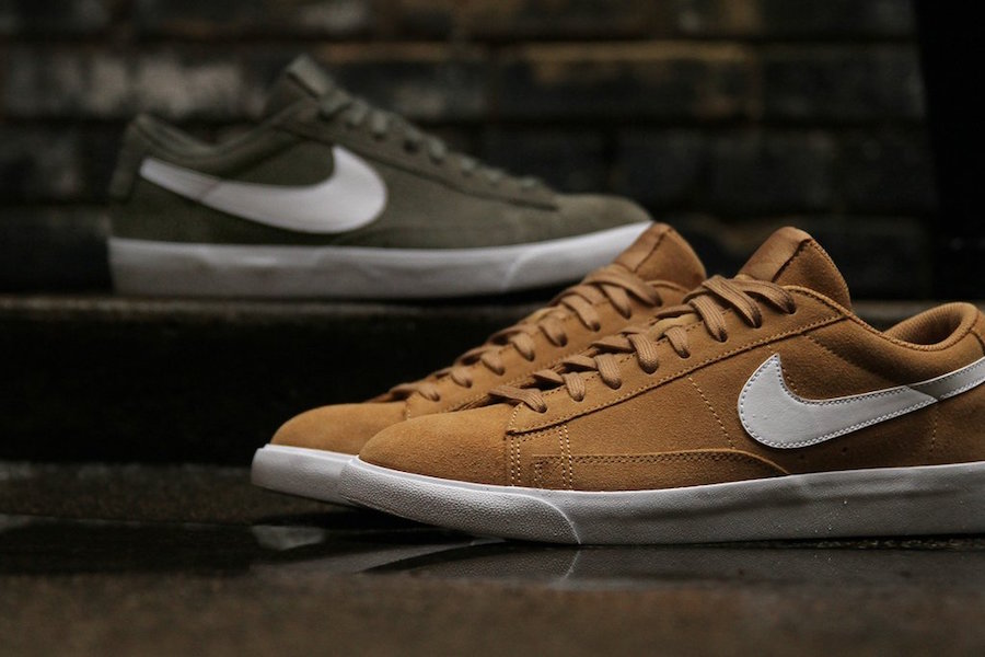Nike Blazer Low Olive Elemental Gold