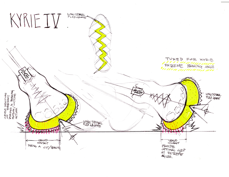 Nike Kyrie 4 Sketch Technology