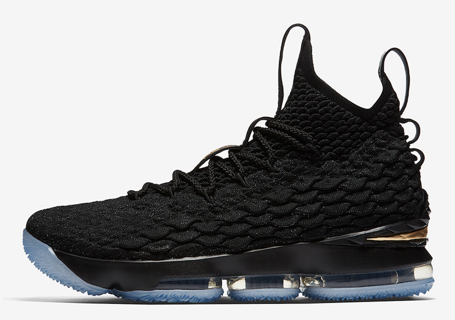 Nike LeBron 15 Black Metallic Gold 897648-006