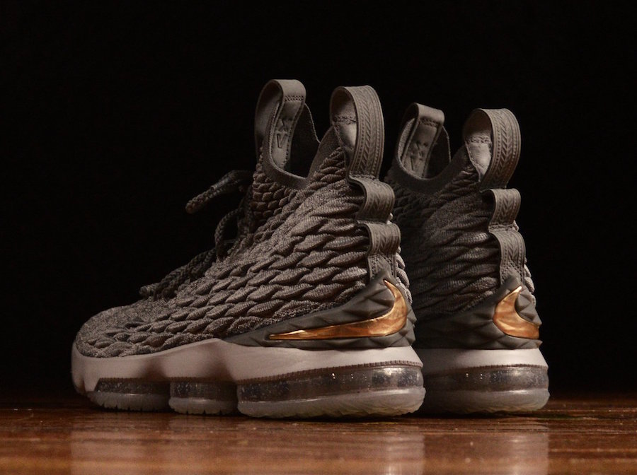 Nike LeBron 15 City Series Grey Gold 897648-005