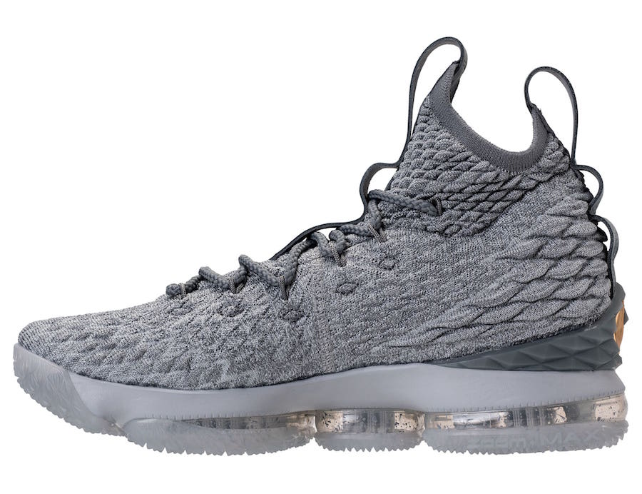 Nike LeBron 15 City Wolf Grey Metallic Gold Cool Grey 897648-005