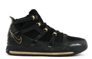 Nike LeBron 3 Retro Black Metallic Gold AO2434-001