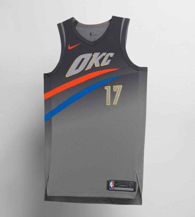 Nike NBA City Edition Uniform Oklahoma City Thunder