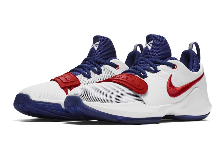 Red White And Blue Basketball Shoes