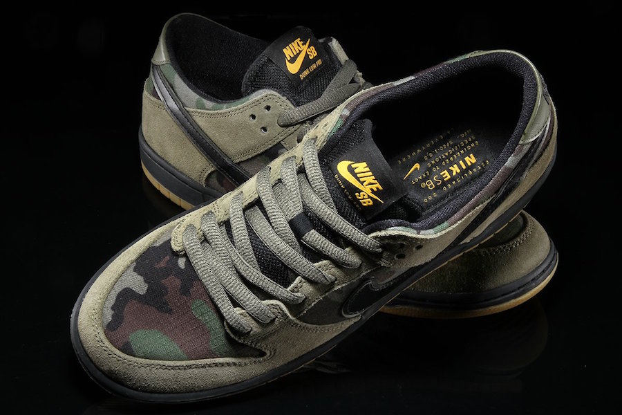 Nike SB Dunk Low Camo Olive 854866-209
