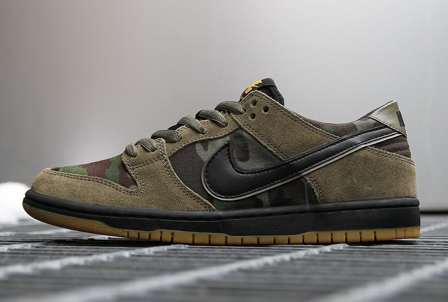 new concept effd8 61b96 ... Nike SB Dunk Low Camo in Medium Olive Tupac ...