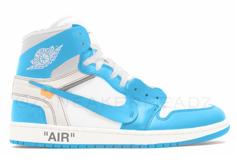 Off-White Air Jordan 1 White University Blue AQ0818-148 Release Details