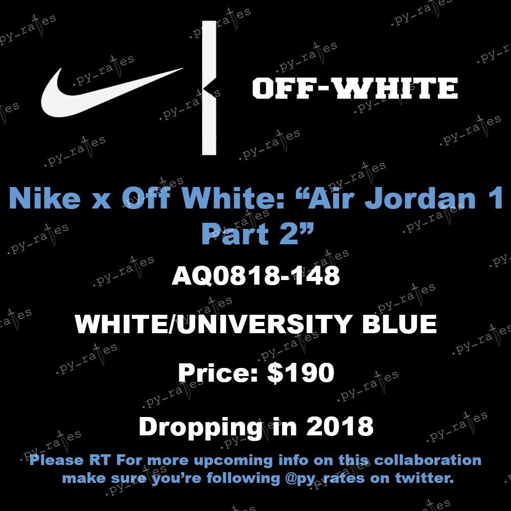 Off-White Air Jordan 1 White University Blue AQ0818