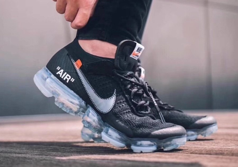 Off-White Nike Air VaporMax Black On Feet