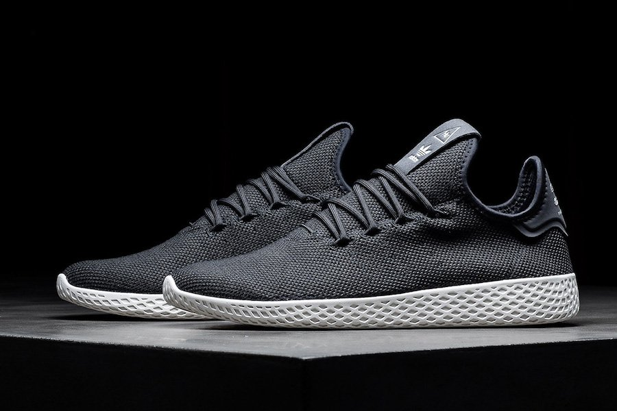 Pharrell adidas Tennis Hu Charcoal Light Grey