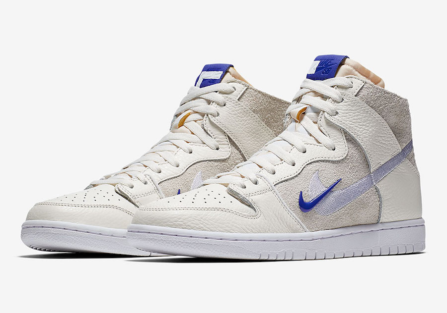 Soulland x Nike Dunk SB High FRIday Grey Blue Shoes