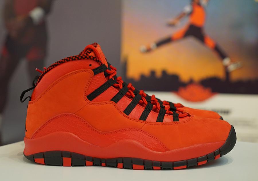 Steve Weibe Air Jordan 10 Red Black