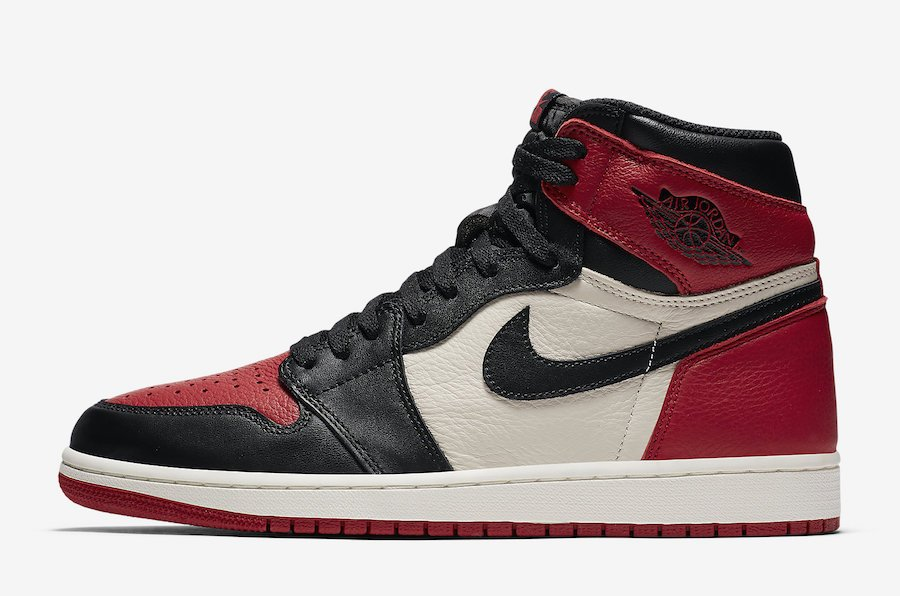 Air Jordan 1 Retro High OG Bred Toe 555088-610