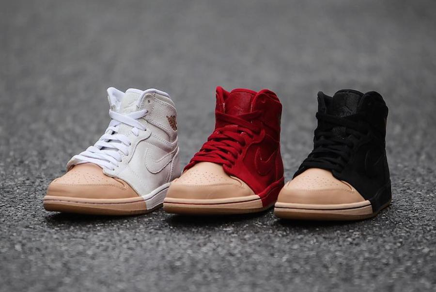 Air Jordan 1 Tan Dipped Toe Pack