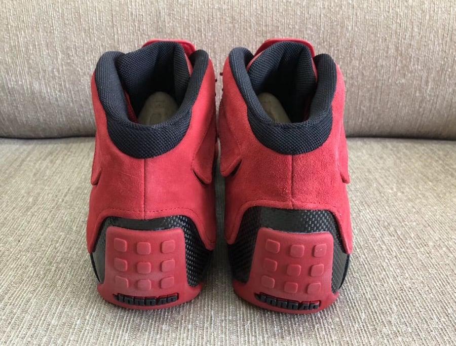 5da9a2353343 Air Jordan 18 Toro Ragging Bull Red Suede AA24R94-601 Release Date