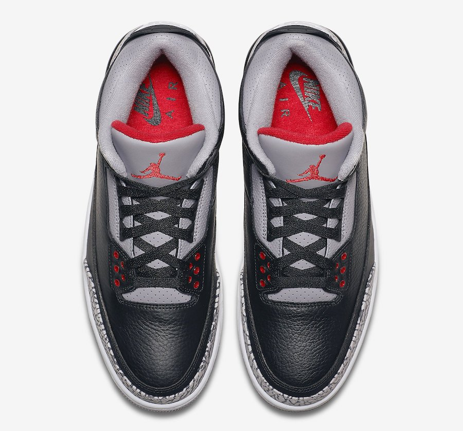 Air Jordan 3 Black Cement 2018 Retro 854262-001 Release Info