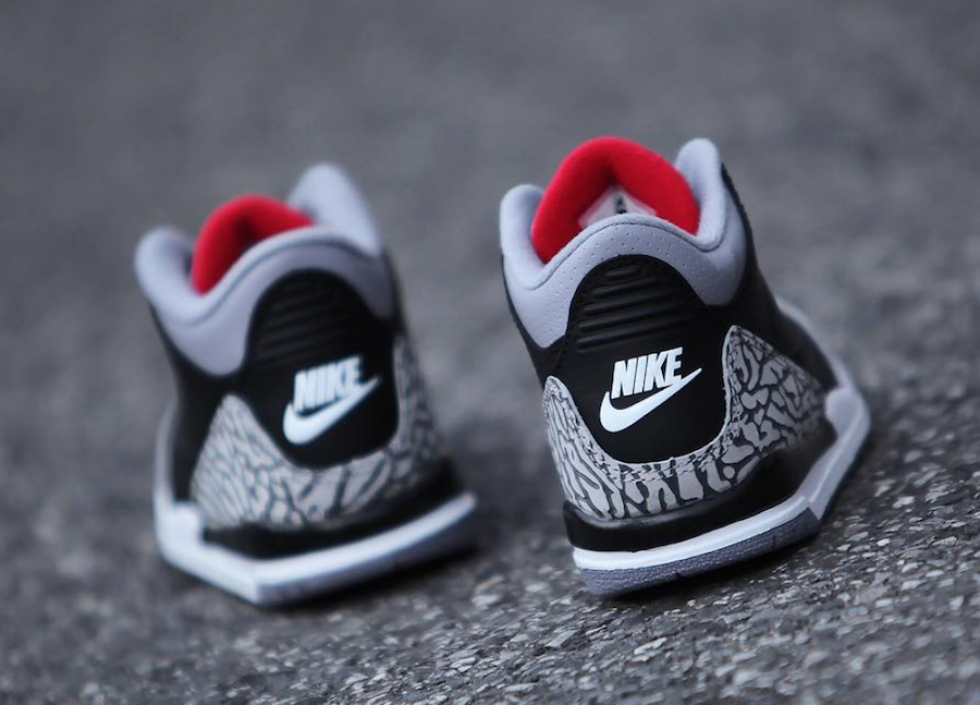 Air Jordan 3 Black Cement Family Sizing