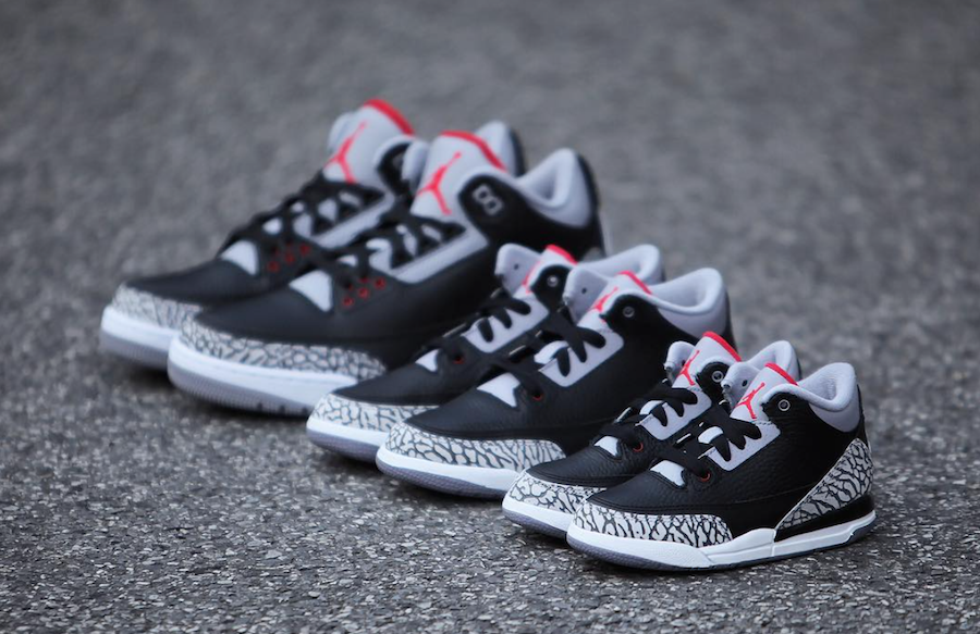 45ec81589529 Air Jordan 3 OG Black Cement 2018 Release Date