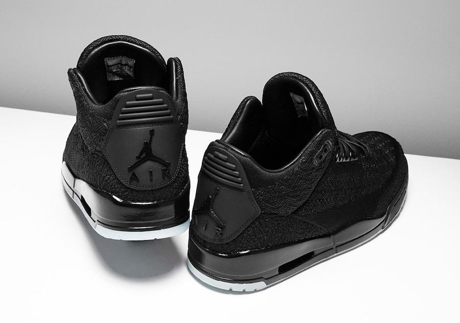 ea536bbad0e14 Air Jordan 3 Flyknit Black AQ1005-001 Release Info