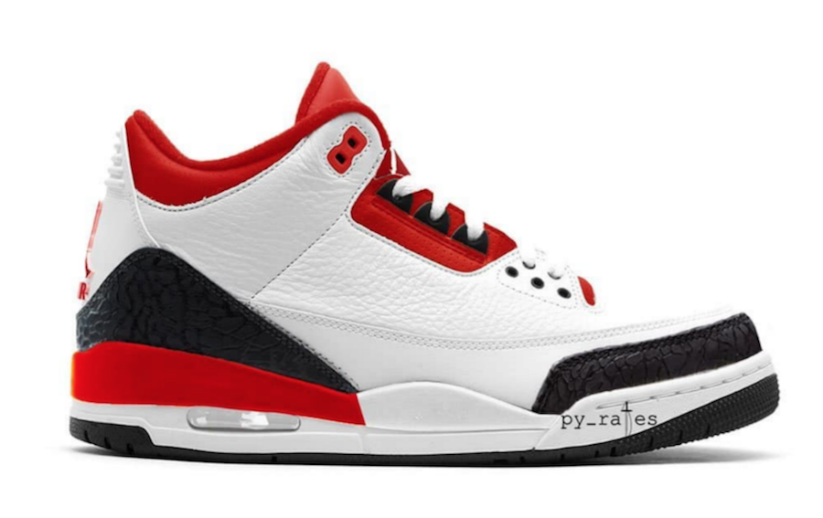 the air jordan 3 jth red