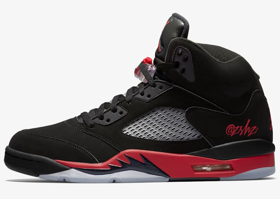 Air Jordan 5 Bred Black University Red 136027-006 Release Date