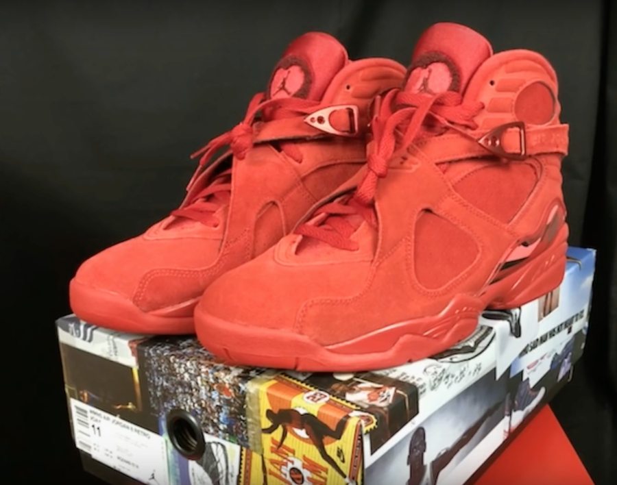 purchase cheap 81a8c a94b9 Air Jordan 8 Valentine's Day Red AQ2449-614 | SneakerFiles