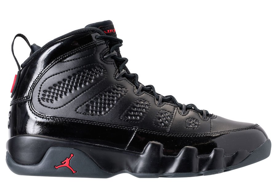 air jordan ix retro black\/university reds indoor