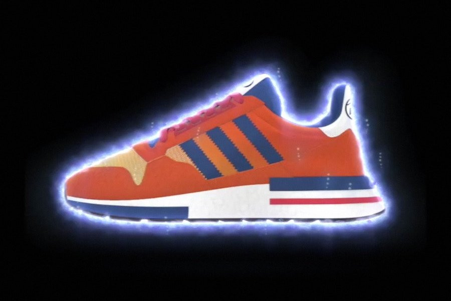 big sale a2136 0fc47 Dragon Ball Z adidas ZX 500 RM Goku