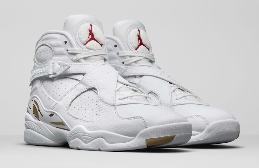 Drake Air Jordan 8 OVO White