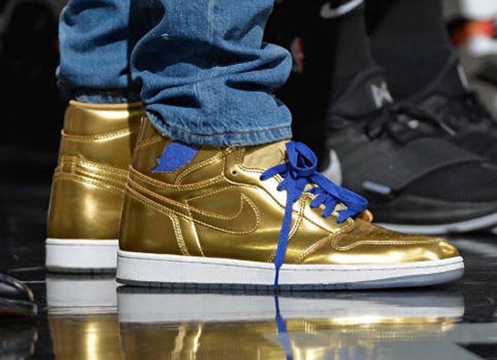 Gold Air Jordan 1 Kawhi Leonard
