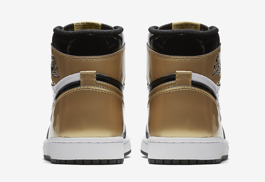 Gold Toe Air Jordan 1 861428-007 Release Date