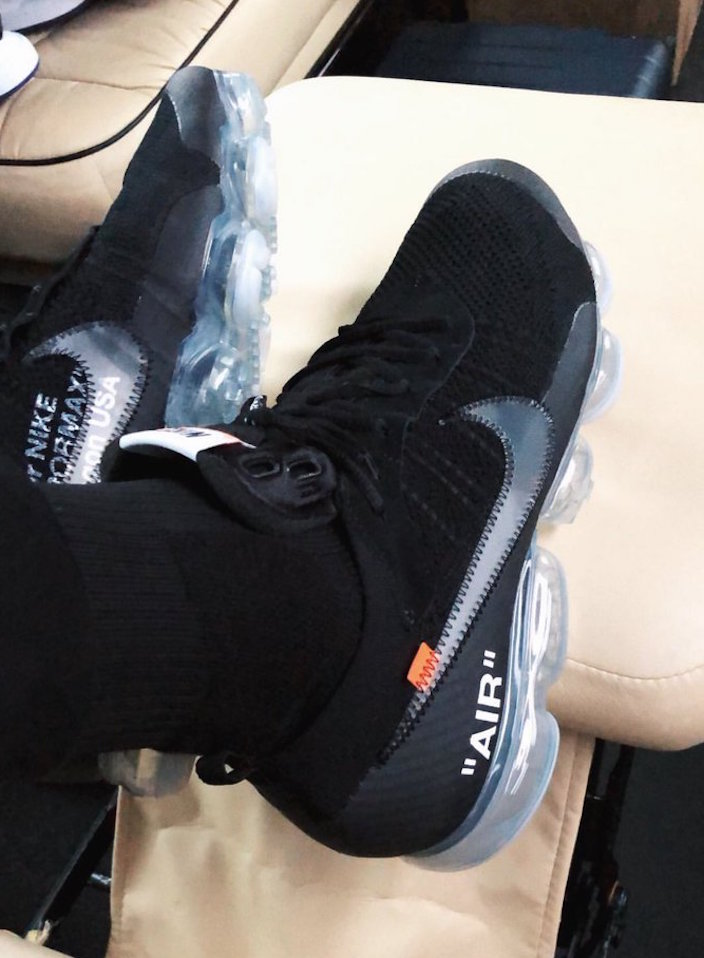 LeBron James Off-White Nike VaporMax Black