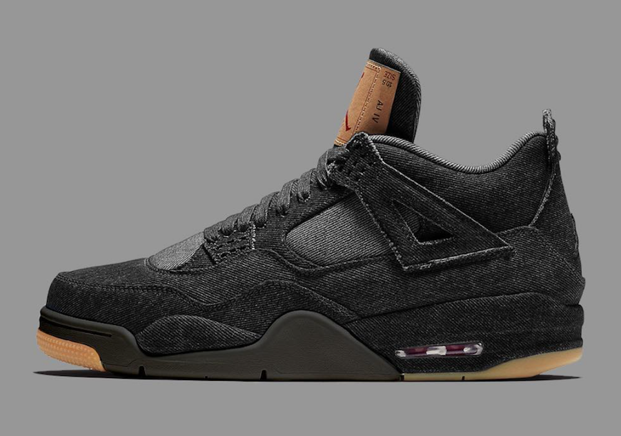 Levis Air Jordan 4 Black Denim Release Details